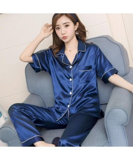 Large Size Sleepwear women Short Sleeve Loose and ...