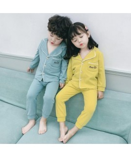 Long Sleeve Cotton Thin Cardigan Children's Pajama...