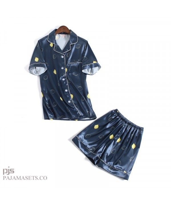 New Sweet and Lovely Short Sleeve ladies silk nightgown for summer Leisure Ice Silk female pajamas
