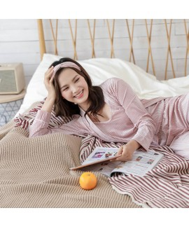 Long sleeved velvet sexy nightgown three piece Pajama sets