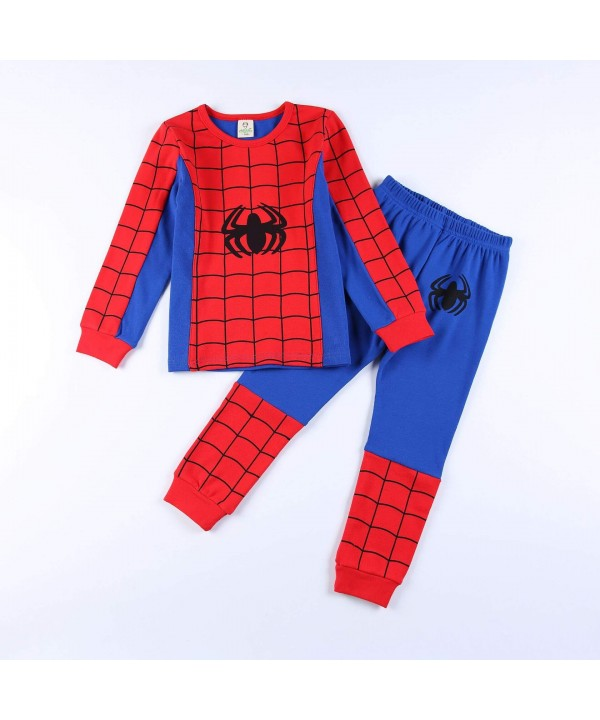 Kids cotton pajamas boys home long-sleeved autumn ...