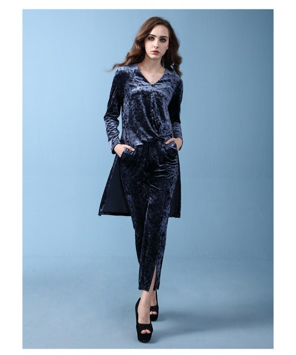 Long sleeved irregular jacket, wide leg pants,pure...