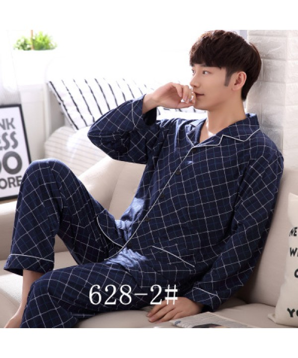 long sleeves Cotton men's pyjamas loose fitting comfy pajama sets