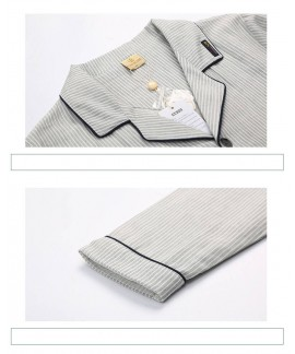 cotton long sleeved Pajama sets men's spring autum...