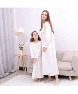 Cotton White Ladies pajamas,girls nightwear casual...