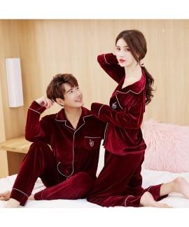 Winter New Golden Velvet pajamas for Men and Women