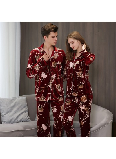 long-sleeved Lovers' loose pajama sets in autumn and winter