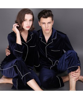 Long sleeve fashionable couple pajamas,velvet paja...