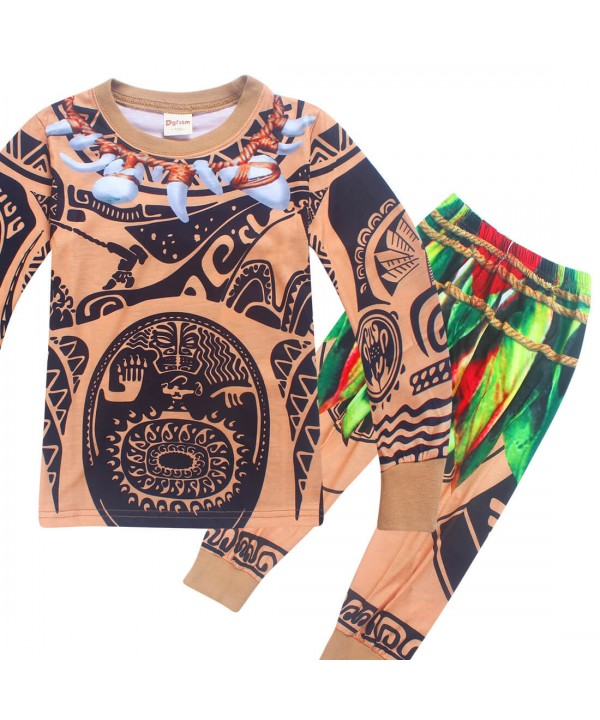 Cool Tribal print boys lounge pajamas set comfy sl...