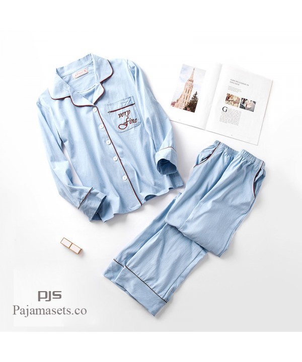 Long Sleeve Couple Cotton Sleepwear cute Women's pajama sets Men's pjs for spring and autumn