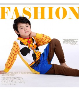 Special print boys long sleeved Cotton pyjama comf...