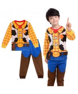 Special print boys long sleeved Cotton pyjama comfy cotton pj sets for children