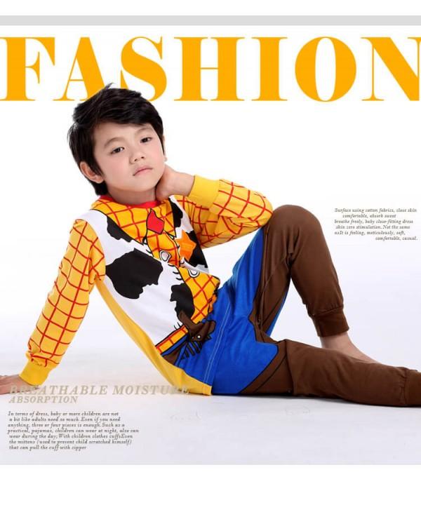 Special print boys long sleeved Cotton pyjama comf...