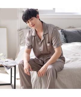 Luxury loose ice silk mens Pajamas set buy pajamas short sets for male