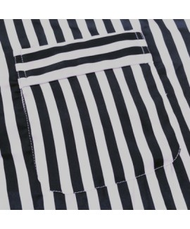 long sleeved Striped ice silk Pajamas set for men plus size lounge pajamas male