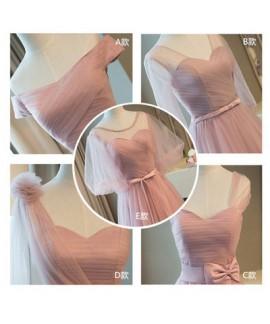 Wedding dress thin long binding bandage sisters wear, bridesmaid skirt