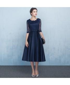 Medium length evening dress, fashion bridesmaid dress