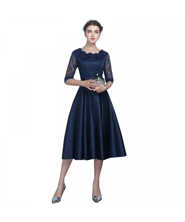 Medium length evening dress, fashion bridesmaid dr...