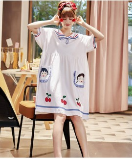 Chibi Maruko Summer Thin Nightdress Short-sleeved ...