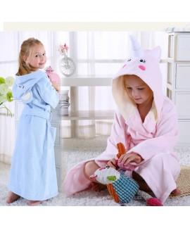 Children's cotton unicorn nightgrown towel autumn ...