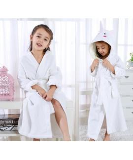 Children's cotton unicorn nightgrown towel autumn winter girls hooded swimming bathrobe Wholesale and Retail