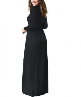 2020 Fall/Winter Hot Women's Nightdress Amazon EBAY Long Sleeve Round Neck Loose Large Swing Dress Pure Color Long Pajama Wholesale