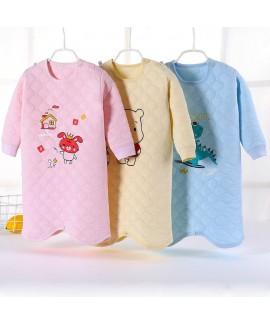 Winter Children's Cartoon Pajama Baby Thickened Ba...