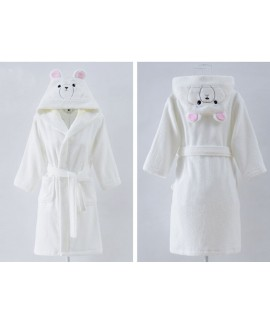 Pure cotton children's bathrobes autumn and winter...