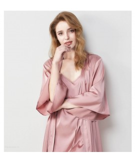 French Sexy Dressing Gown Suspenders Pajamas Robe ...