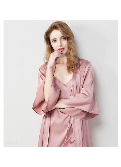 French Sexy Dressing Gown Suspenders Pajamas Robe Women Spring Summer Autumn Two-piece Nightdress Wholesale