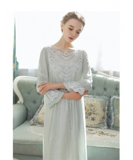 Princess Cotton Sleepwear Spring Summer Female Lon...