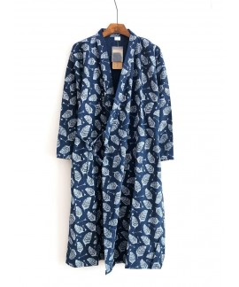 Spring Summer Autumn Men's Robe 100% Cotton Gauze ...