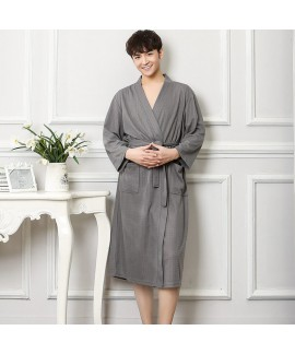 Cotton Robe Home Dress Long Sleeve Nightgown For M...