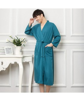 Cotton Robe Home Dress Long Sleeve Nightgown For Men Bathrobe Gown Oversize
