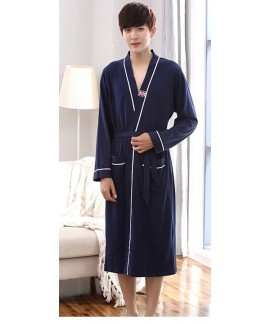 Mens Printing Night Wear Robe 100% Cotton Kimono B...