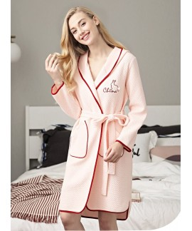 Female Autumn Winter Long Sleeve Nightdress 100% P...