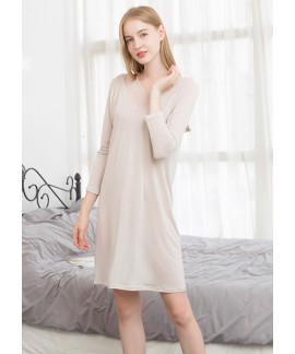 Ladies Silk Lace Knitted Night Dress Loose Plus Si...