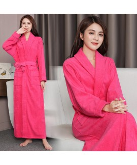 Women Thick Long Robe Pockets Nightgown Sweet Lady...