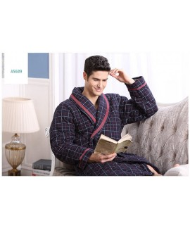 Winter men's warm robe plus cotton nightgown thick...