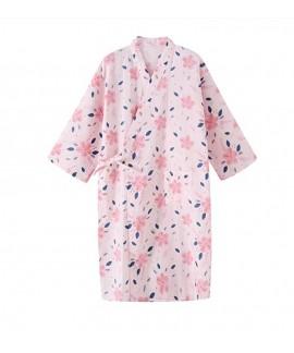 Summer Lovely Thin 100% Cotton Nightwear Flower Pr...