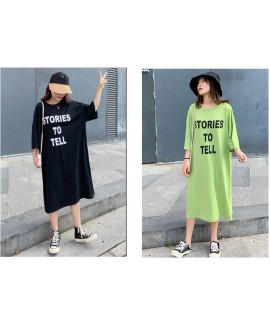 Woman New Cotton Nightgown Casual Short Sleeve Fas...