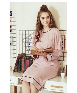 Spring Autumn Cotton Slim Pajamas Women's Nightdre...