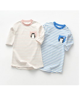Baby nightgown spring and autumn thin striped peng...