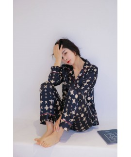 Long Sleeve Fashion Sleepwear Female for Spring an...