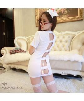 Sexy Women's Role Playing Nurse's pyjamas Uniform Attractive pj Set female