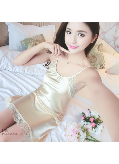 Sexy Female Lace Seductive Sleepwear for Summer Large Sleeping pj sets for women