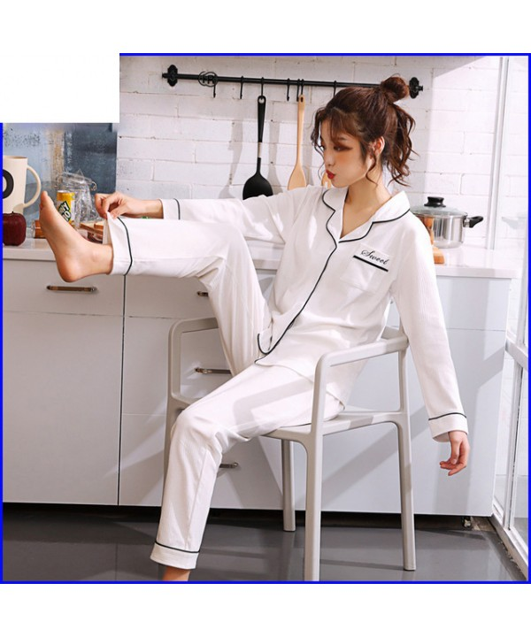 long sleeve pure cotton Sleepwear for spring fresh...
