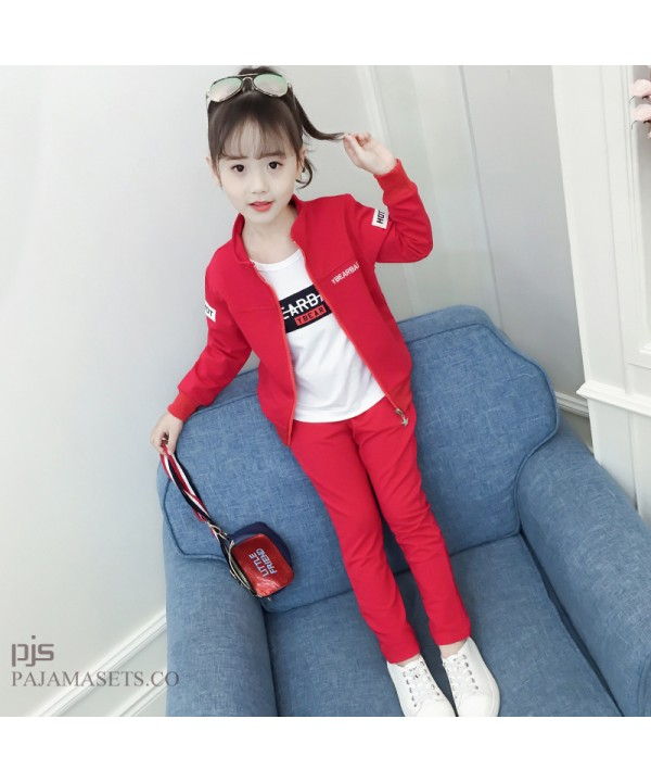 New kids three set of pajamas for spring comfy sle...