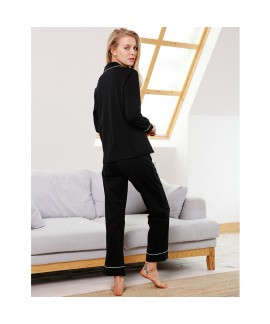 long sleeved cotton pajama for women cardigan Clas...