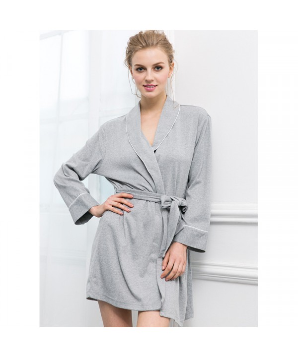 Pure cotton female pajamas and robe sets long sleeved pajamas for women
